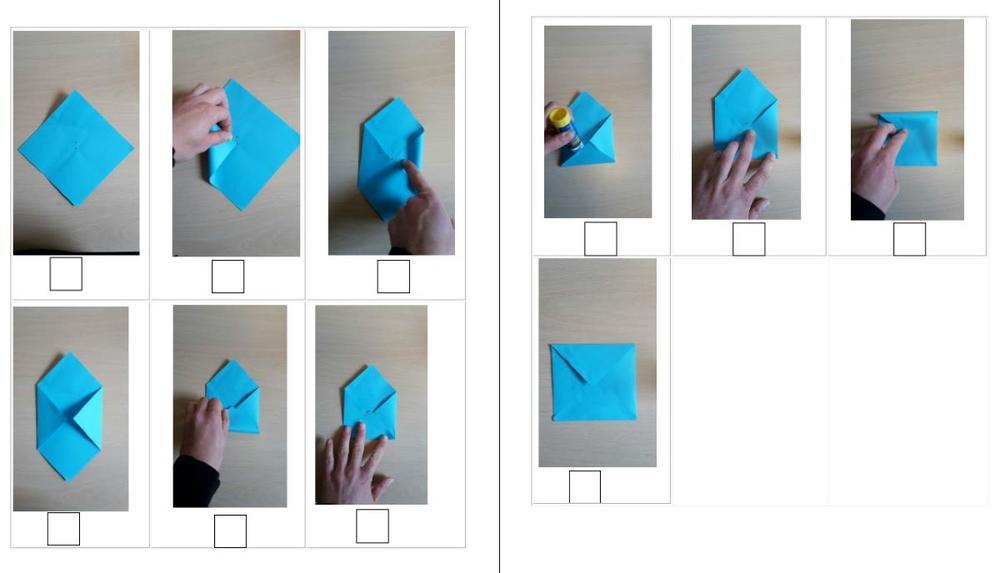 Bildanleitung - Briefumschlag falten