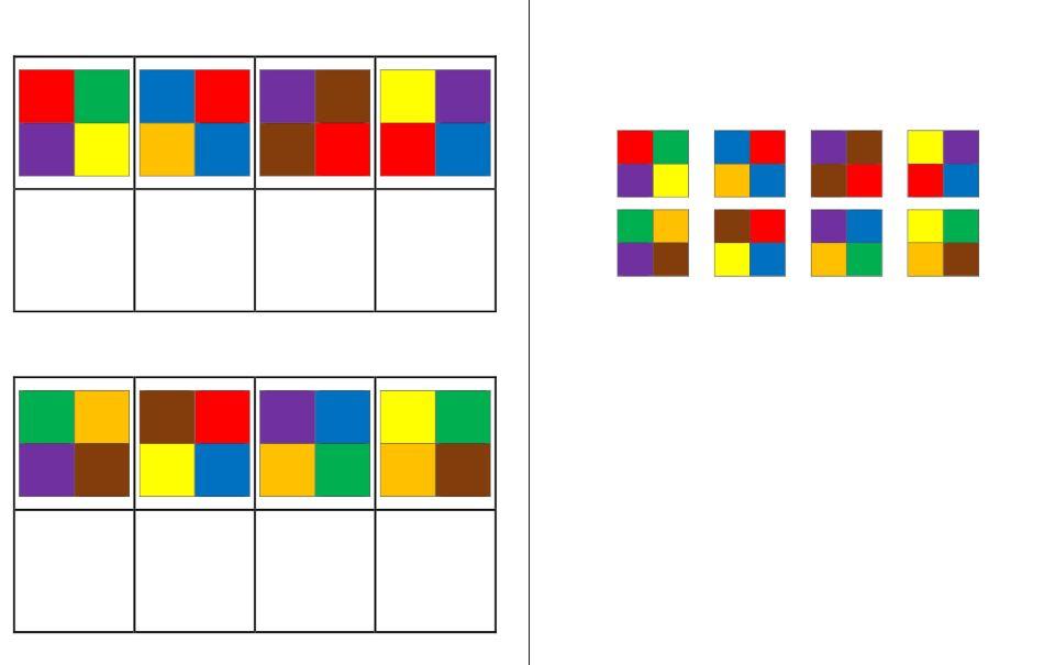 Aufgabenmappe - Farbmuster zuordnen