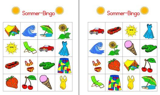 Sommer-Bingo