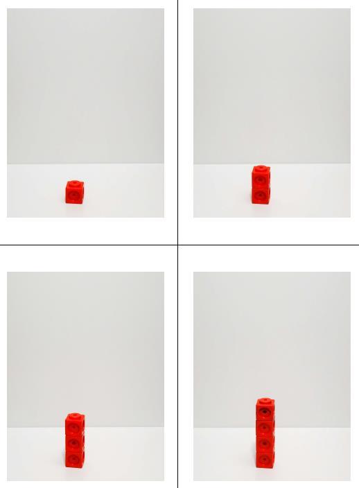 Mengenvergleich - Steckwürfeltürme