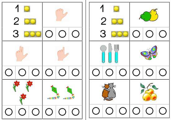 Menge- Zahl- Zuordnung ZR 1-3 mit Muggelsteinen