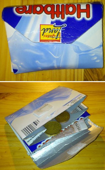 Portemonnaie aus Tetrapak