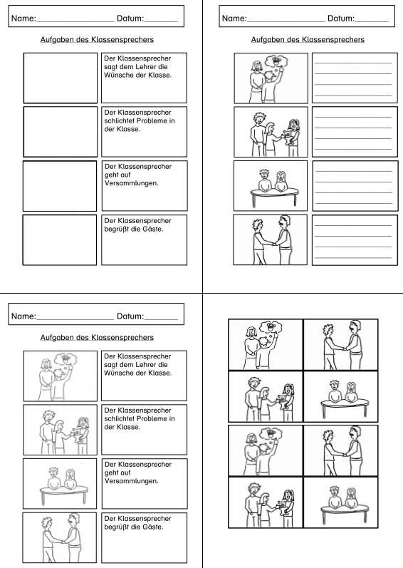 Aufgaben des Klassensprechers