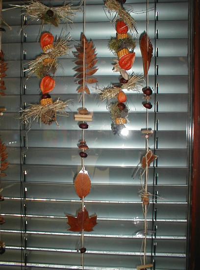 Fensterschmuck oder Raumschmuck aus Naturmaterial
