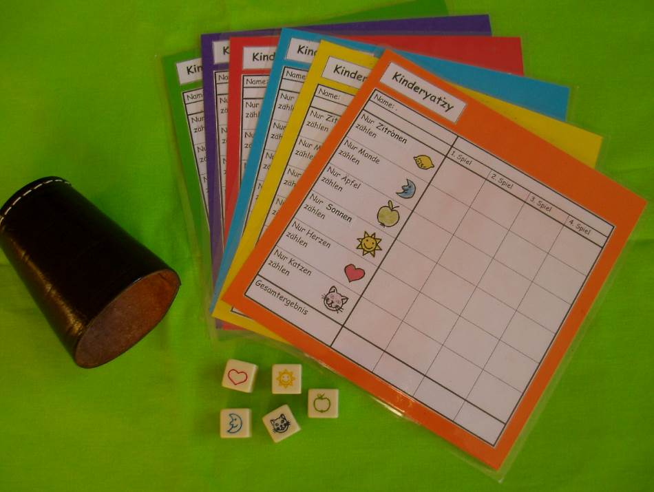 Kinderyatzee + Vereinfachtes Yatzeespiel (Kniffel)