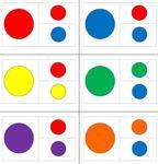 Fädelkarten für Farbzuordnung