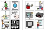 Bildsymbole zum Thema Wohnen