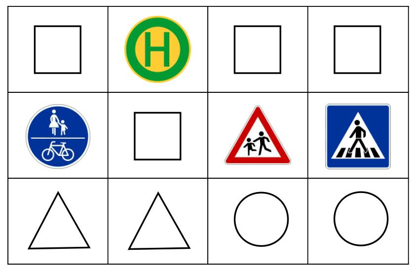 Domino - Verkehrszeichen - Formen
