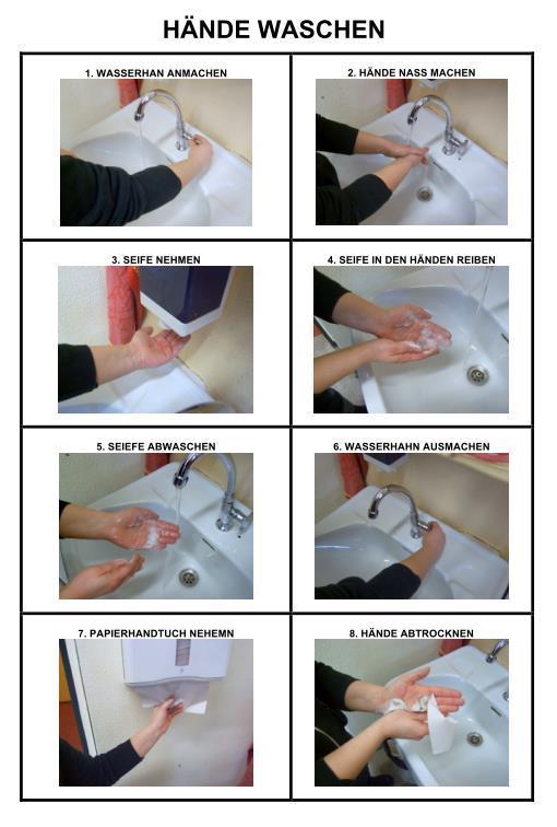 Bildanleitung - Hände waschen 2