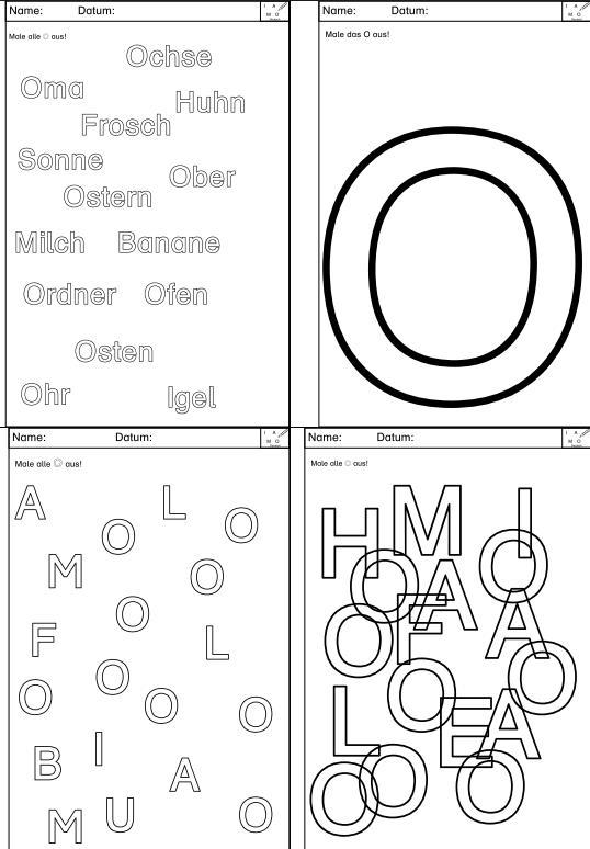 Optische Analyse verschiedener Buchstaben