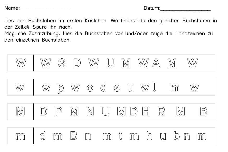 Buchstaben einkreisen