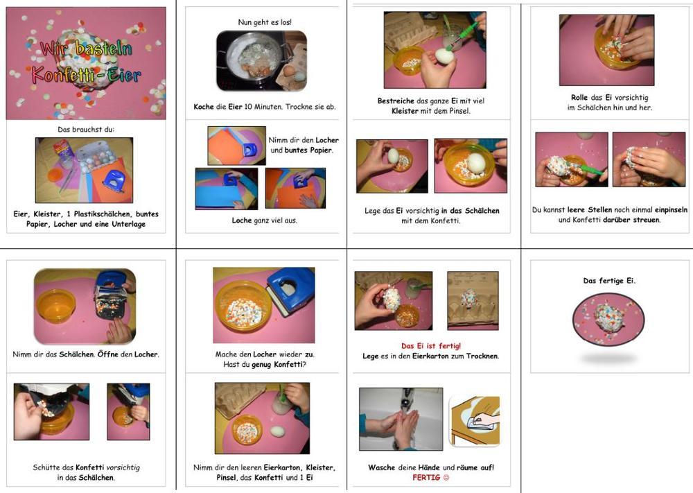 Konfetti-Eier für Ostern basteln