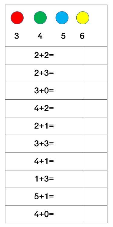 Klammerkarten Zahlenraum 10