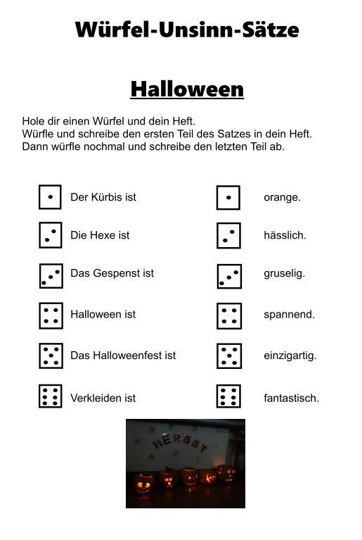 Halloween - (Un)sinnwürfelsätze