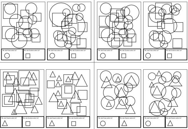 Karten zur Figur-Grund-Wahrnehmung