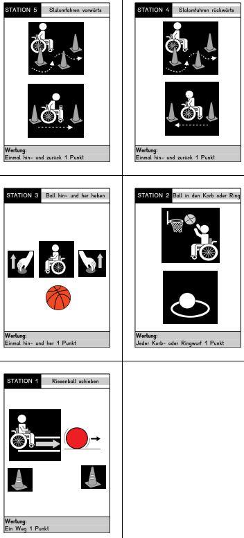 Zirkeltraining für Rollstuhlfahrer