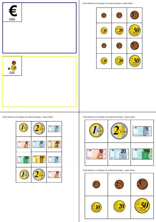 Aufgabenmappe - Euro oder Cent