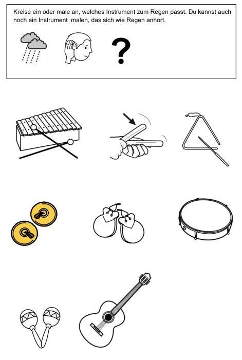 Regen - welches Instrument passt?