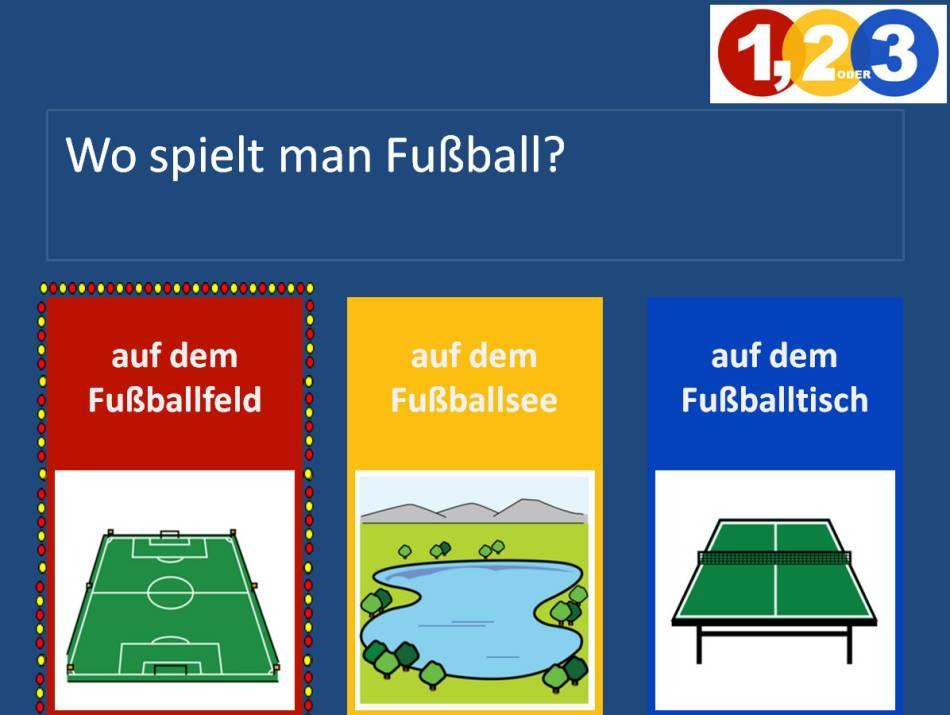 Fußballquiz - 1, 2 oder 3