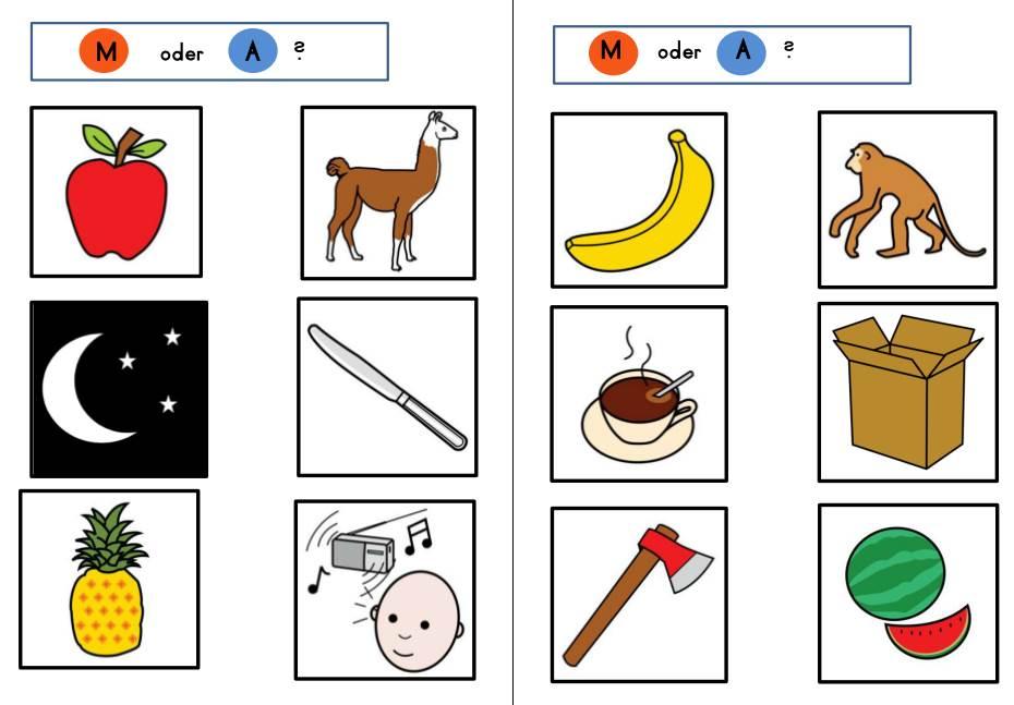 Material zur Phonologischen Bewusstheit - A und M