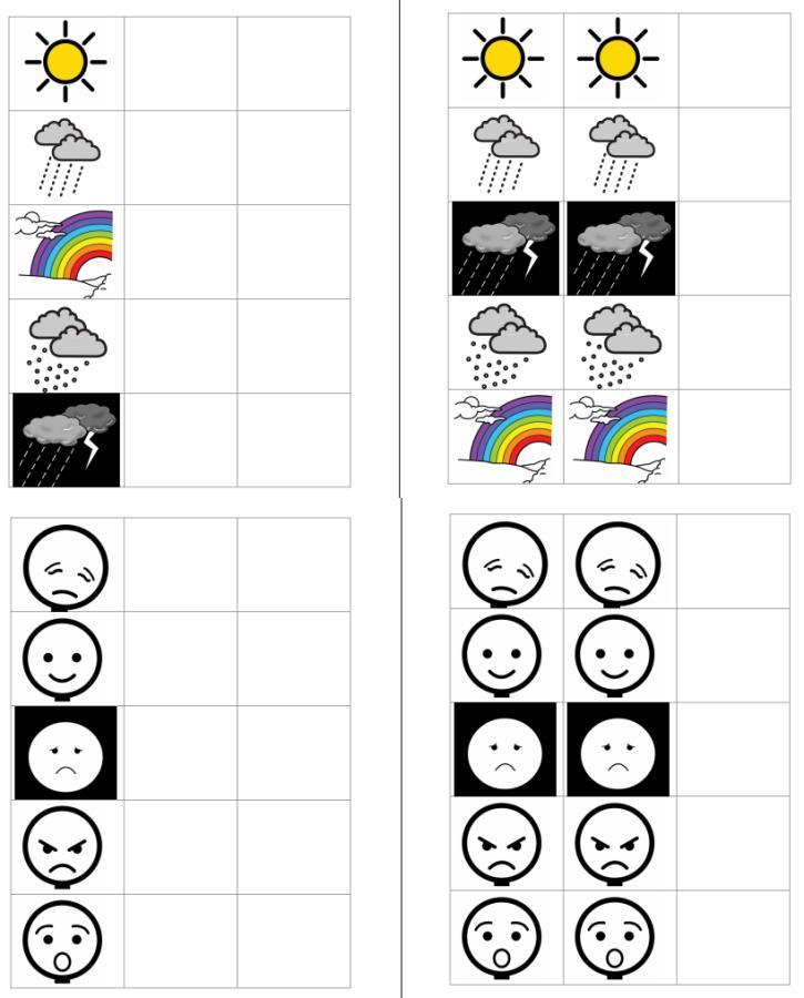 Arbeitsmappen Wetter und Gefühle