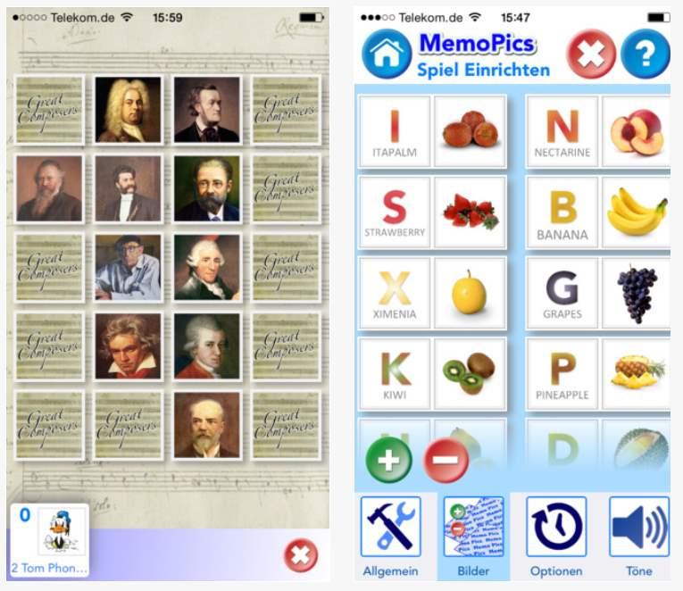 Eigene Memories erstellen mit MemoPics