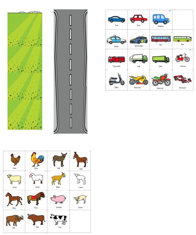 Aufgabenmappe - Wiese oder Straße