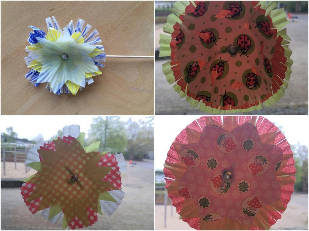 Muffinförmchen-Blüten