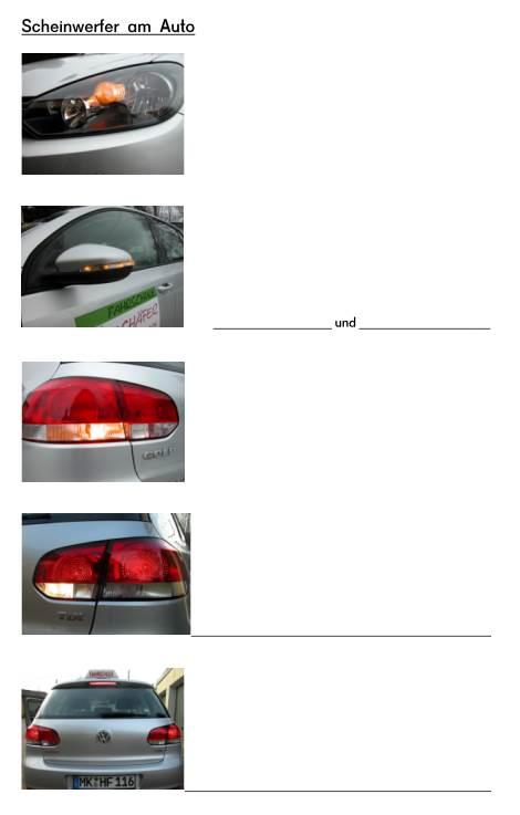 Scheinwerfer am Auto