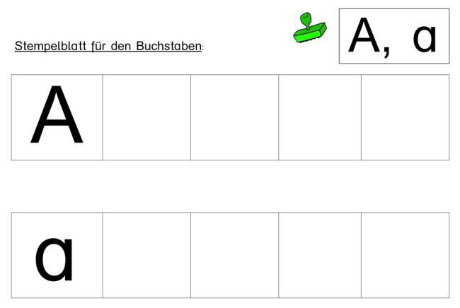 Stempelvorlagen für Buchstabenstationen - Buchstaben  A - Z