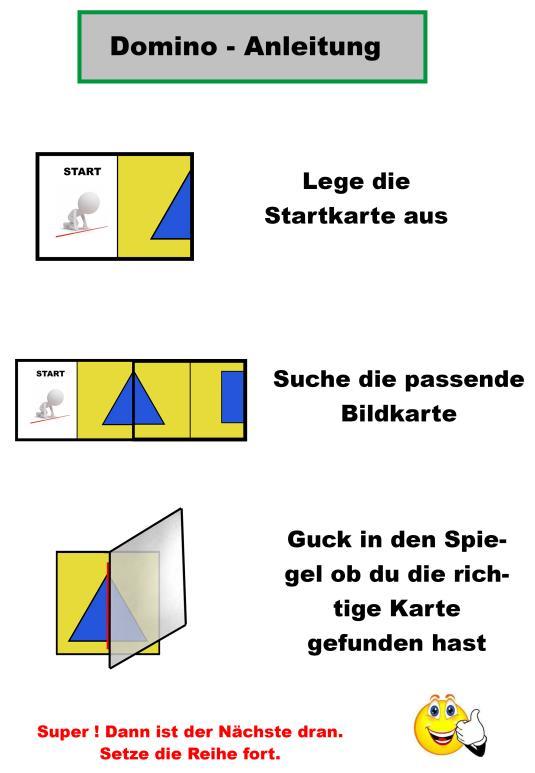 Spiegel-Domino - Symmetrie - Förderspiel