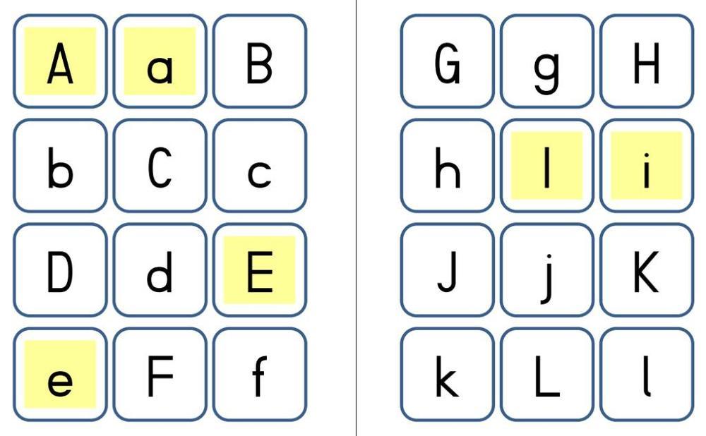 Memorie - Groß- und Kleinbuchstaben
