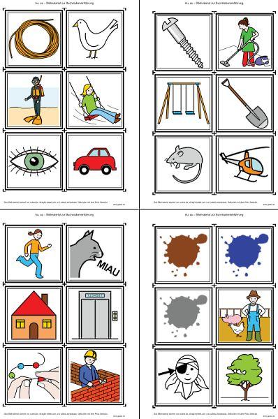 Bildkarten zur Buchstabeneinführung