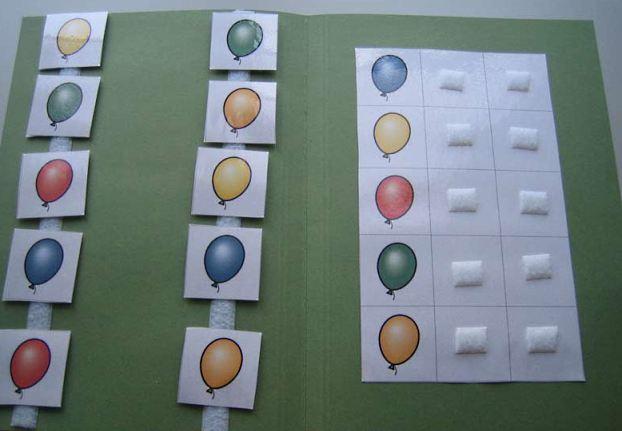 Aufgabenmappe - Luftballon Farben zuordnen