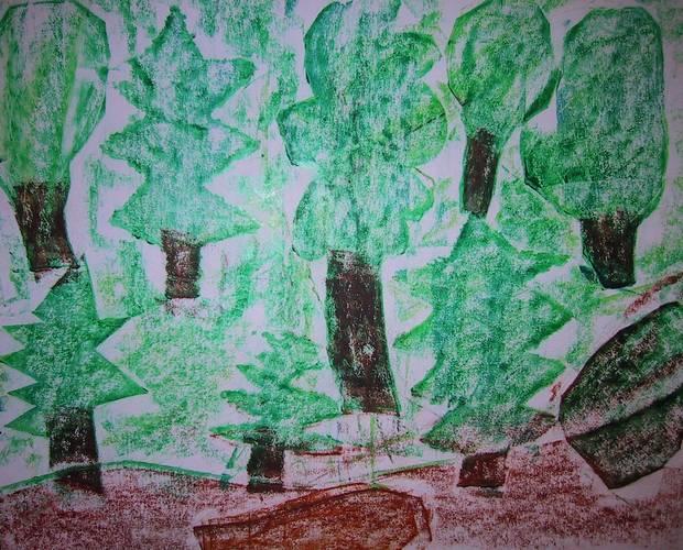 Durchreibebild zum Thema Wald