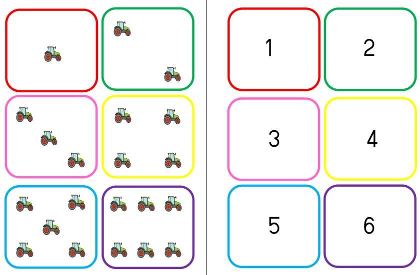 Würfelbild - Zahlen - Mengen