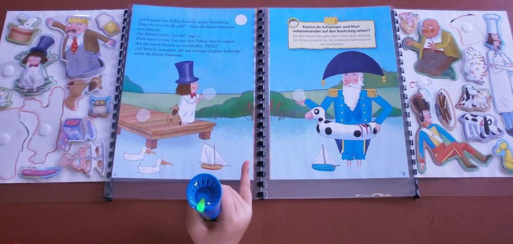 Stickerbuch mit Klett und AnyBook Reader für mehrmalige Verwendung