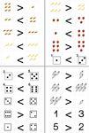 Aufgabenmappe - Mengen vergleichen mehr - weniger ZR bis 6