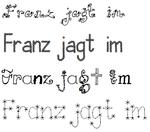 Verspielte Fonts