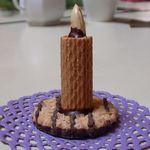 Kerze als Tischschmuck